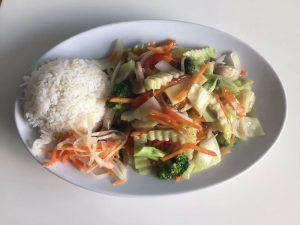 Gemüse mit Reis von ASIA WOK